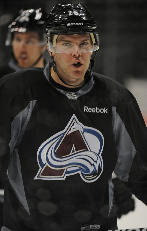 . Colorado Avalanche center Paul Stastny, moves his way up the ice during practice January  17th, 2013. The Colorado Avalanche hit the ice for the first time this season at the Pepsi Center.  After long months of contract negotiations the season has finally started. Helen H. Richardson, The Denver Post