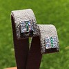 Art Deco Diamond and Emerald Disc Earrings 50