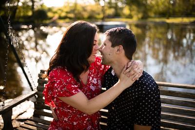 Olivia + Tim | Wisconsin Backyard Engagement Session