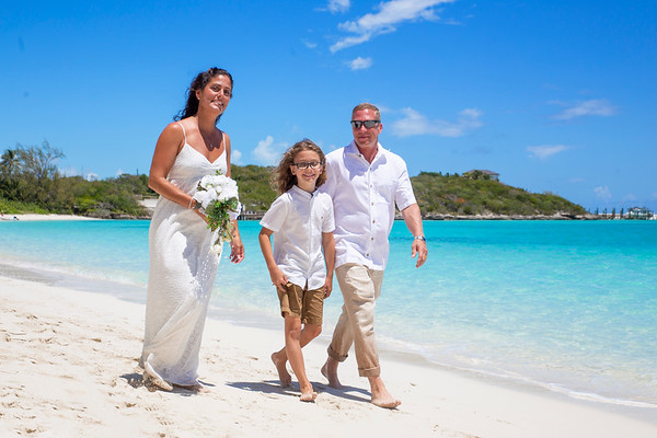 Mike and Kristina's Destination Wedding. Exuma, Bahamas.