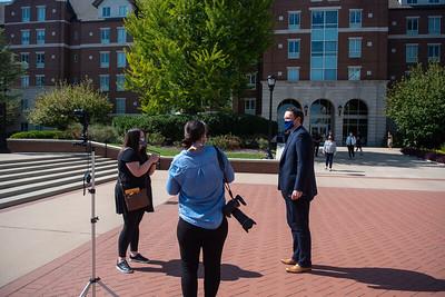 Pre Debate media on campus