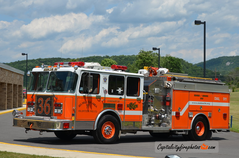 Six Mile Area (Bedford Co.) Rescue 36: 1991 Spartan Gladiator/4 Guys 1500/750
