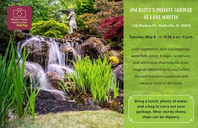 Jim Scott's Private Gardens at Lake Martin 5-8-18
