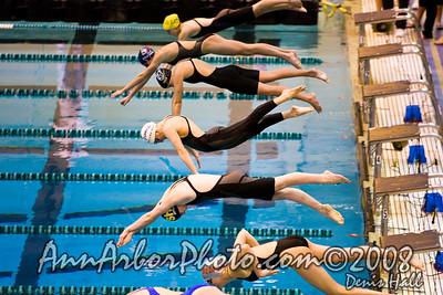 2008 MHSAA Girls Div. 1 State Swimming Finals 11-22-08