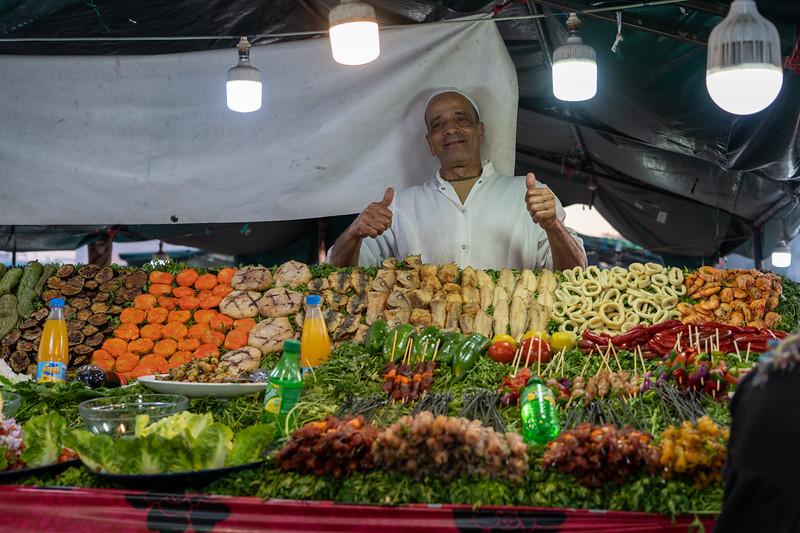 Street food in Marrakech, Morocco