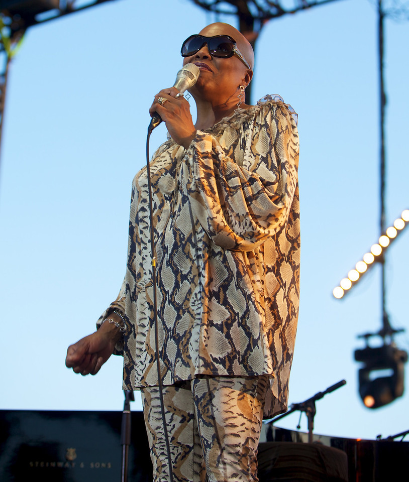 Dee Dee Bridgewater at Jazz à Juan 2010 2<br /> Dee Dee Brigewater in concert at Jazz à Juan 2010