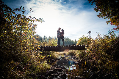 Jackie & Sean: Engagement session in Dumbarton, NH