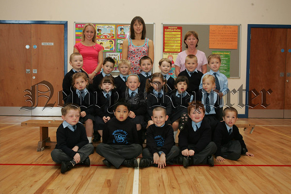 Pictured with Tracy Lilburn, Mrs Moore and Hazel Millsopp are the new Primary 1 pupils from Windsor Hill P.S. Newry. 07W37N20