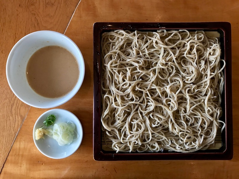 Gomadare seiro soba - cold buckwheat noodles with sesame sauce at Honmura-an.