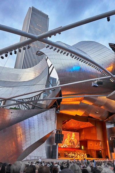 Pritzker Pavilion during the 2018 Chicago Jazz Festival