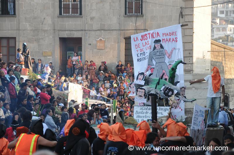 Students at Demonstration - Xela, Guatemala