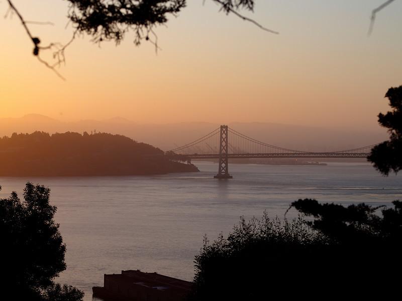The Bay Bridge, early morning.