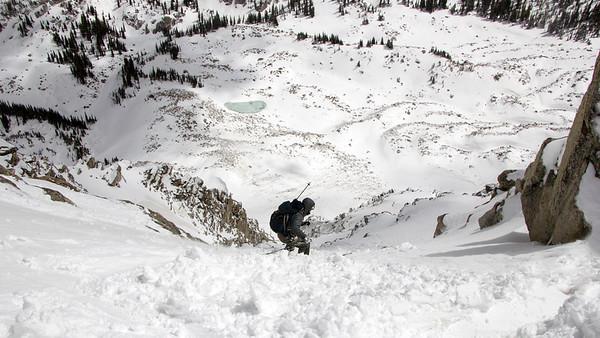 Backcountry Skiing Lone Peak NE Couloir