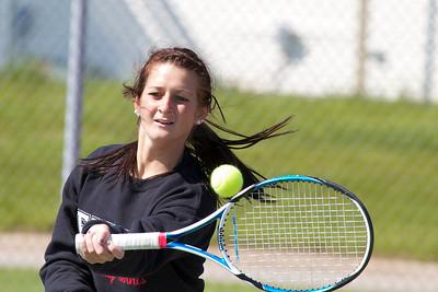 2012, April 23 Girls Tennis East Kentwood vs. Grandville