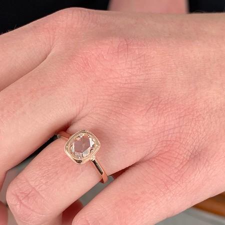 1.06ct Oval Rose Cut Ring, GIA I VS1