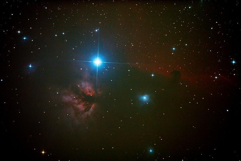 IC434 Horsehead Nebula near Star Alnitak - 9/1/2013 (Processed stack)