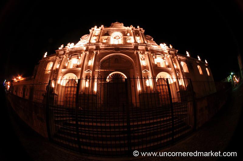 San Jose Cathedral at Night - Antigua, Guatemala