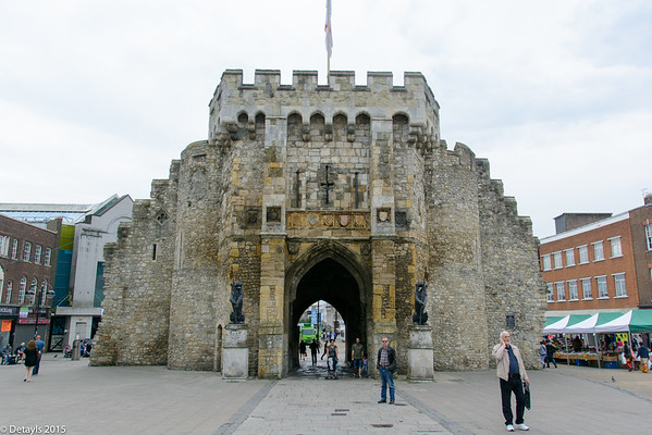 A walk round the walls in Southampton in June 2015