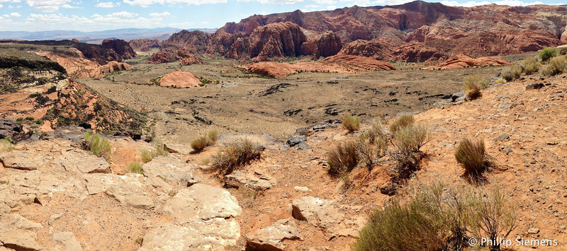 Overlook of Snow Canyon, filled in with lava