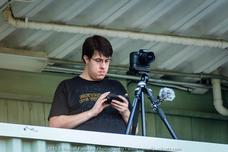 Jordan's older brother, Devon, ran one of the video cameras and the audio recorder, and a smart phone!