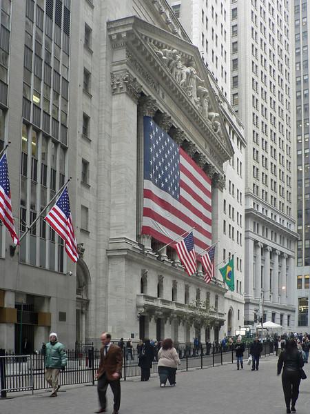 Den idag något skamfilade NYSE på Wall Street