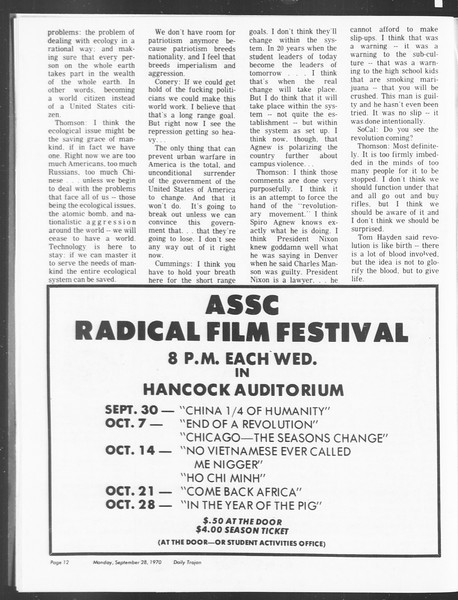 SoCal, Vol. 62, No. 5-A, September 28, 1970