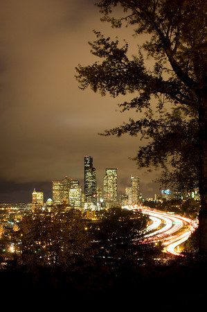 Seattle Night Skyline - Election Night