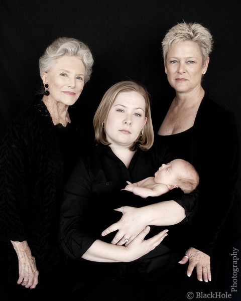 """Photographic Series - """"Four Generations"""" - Inspired by a previous photo which was of Amy, Chris, Marie, and Marie's mother, Pearl."""