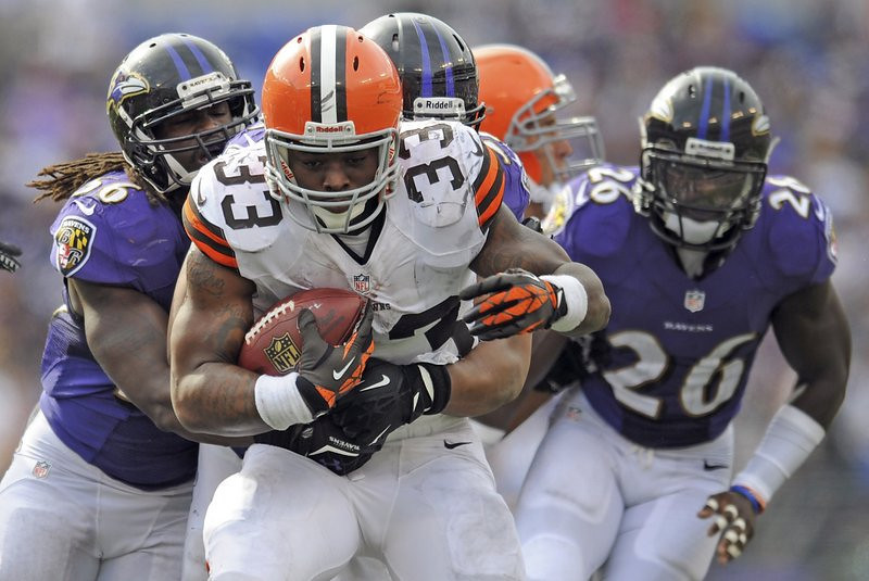 """. <p>3. (tie) CLEVELAND BROWNS <p>We can explain the Trent Richardson trade and the sandbagging of this season in two words: Johnny Manziel. (unranked) <p><b><a href=\'http://www.nfl.com/news/story/0ap2000000246821/article/trent-richardson-traded-to-colts-from-browns-for-pick\' target=\""""_blank\""""> HUH?</a></b> <p>    (AP Photo/Gail Burton)"""