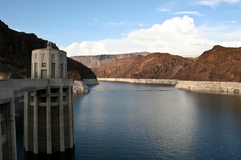 Glen Canyon Dam located on the Colorado River near Page, Arizona.