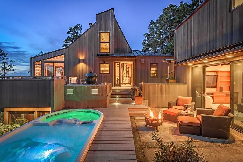 Main House & Pool House at Twilight