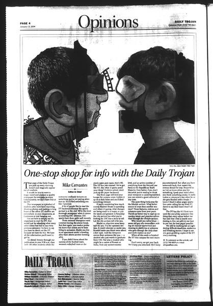 Daily Trojan, Vol. 151, No. 1, January 13, 2004