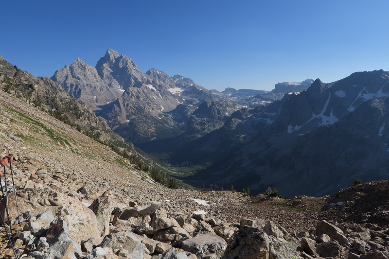 Grand Teton and the intersection of North and South Cascade Canyons