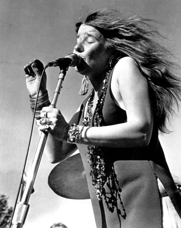 . Rock singer Janis Joplin performs in this undated photo, location unknown.  (AP Photo)