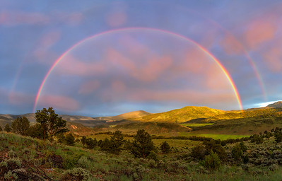 Rainbow after the storm near Statebridge, Colorado