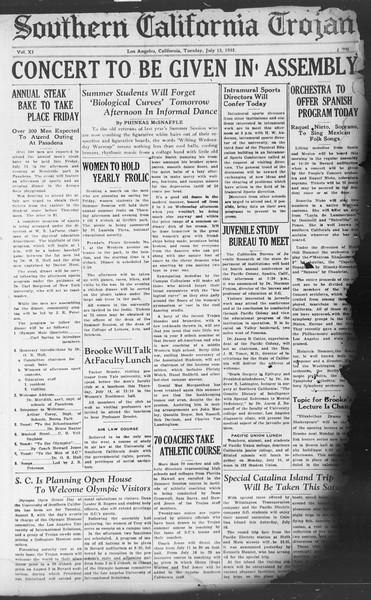 Southern California Trojan, Vol. 11, No. 7, July 12, 1932
