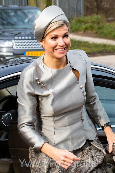 Queen Máxima in the Westergasfabriek Amsterdam