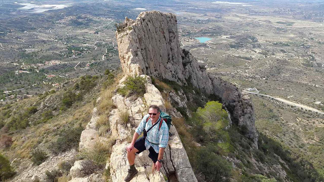 Richard completing the Cabezon ridge climb