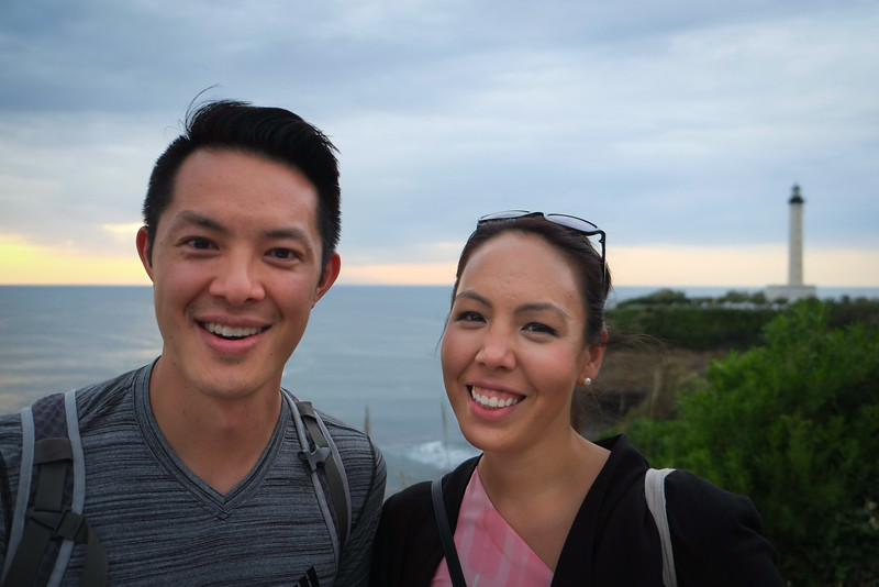 Khan and Jelly in Biarritz, France
