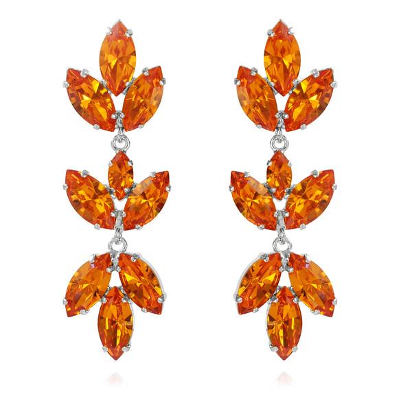Tekla Earrings / Tangerine Rhodium