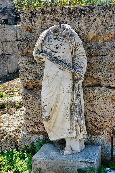Ancient Corinth statue