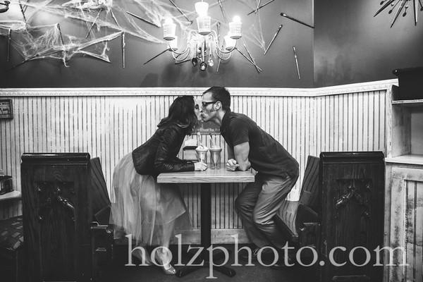 Andrew & Tina B/W Engagement Photos