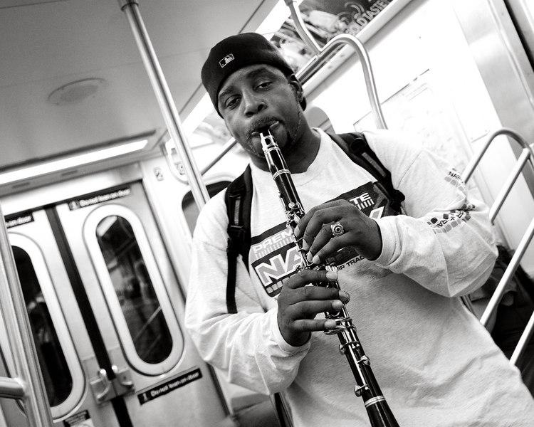 "Subway Clarinetist - he was playing ""Minka Minka"""