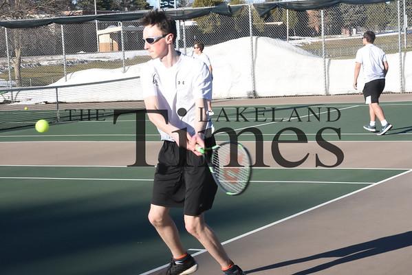 LUHS Boys' Tennis vs. Antigo April 16, 2019