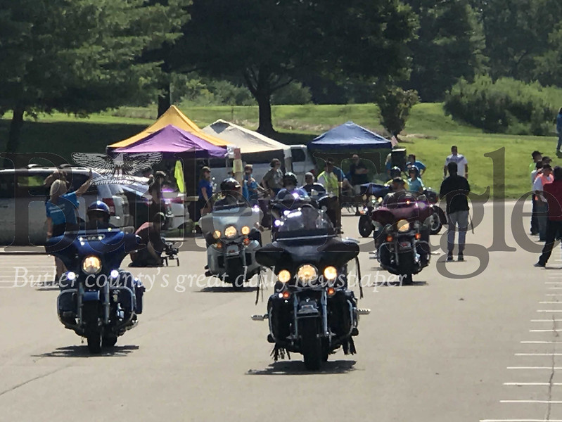 One hundred seventy motorcycles and 300 participants were in attendance at Western Pa.'s Ride for Kids event Sunday at Seneca Valley High School. The ride is meant to serve as a fundraiser for the Pediatric Brain Tumor Foundation and to raise awareness of the number of children who are diagnosed with brain cancer.