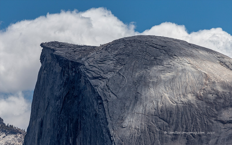 Half Dome Pilgrims - Viewed from Glacier Point - 400mm - June 2015