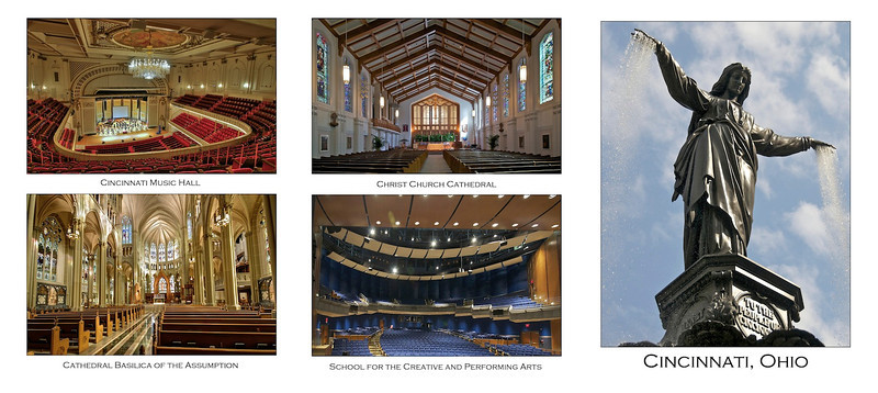 Cincinnati - World Choir Games venues - outside 3 panels of card