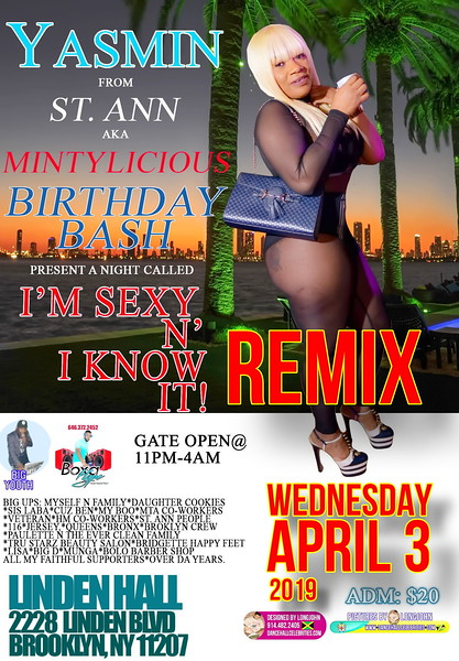 Wed. Apr. 3 (REMIX) (BOOKED) MINTYLICIOUS' BIRTHDAY BASH