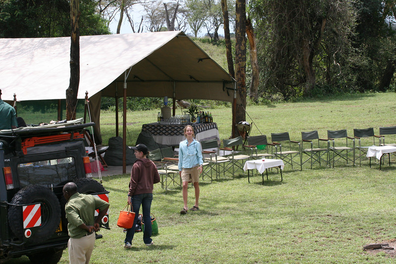"""Audrey and Elaine coming into camp...happy to be """"home"""""""