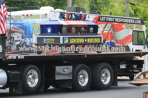 6/24/17 - Leoni Twp, American Towman Spirit Ride relay stop